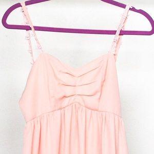 Tobi Pink Flowy Dress